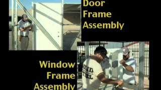 Step 12 : Door & Window Frame Outs
